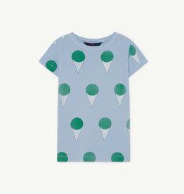 the Animals Observatory Hippo kids t-shirt blue icecream