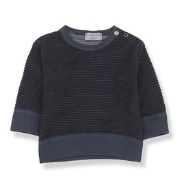 1+ in the family Sweatshirt blue notte