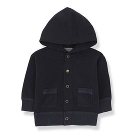 1+ in the family hood jacket blue notte