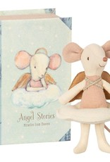 Maileg Angel mouse, big sister in book