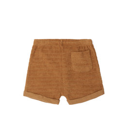 Phil & Phae Striped frotté shorts antique brass