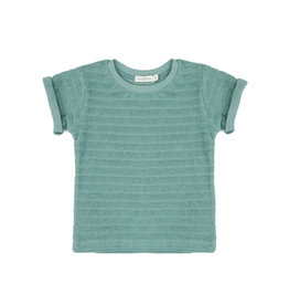 Phil & Phae Striped frotté top sea glass