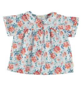 Piupiuchick Peter pan collar blouse flowers kid