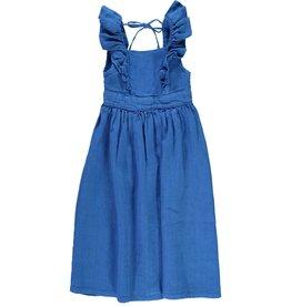 Piupiuchick Long dress with frills - Indigo blue (coming soon)