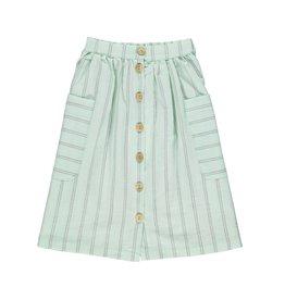 Piupiuchick Long skirt - Greenwater & grey stripes