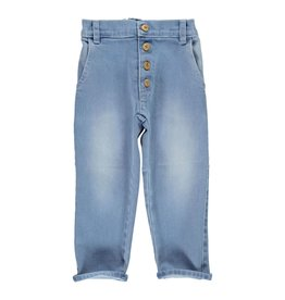 Piupiuchick Unisex trousers washed blue jeans kid