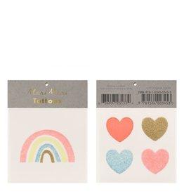 Meri Meri Rainbow & hearts tattoos