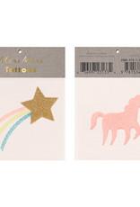 Meri Meri Star & unicorn tattoos