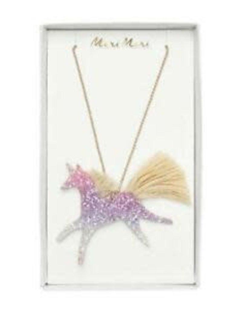 Meri Meri Unicorn enamel necklace