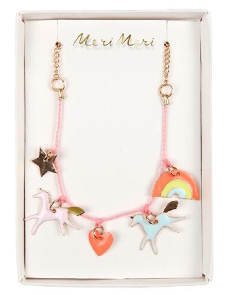 Meri Meri unicorn and others necklace