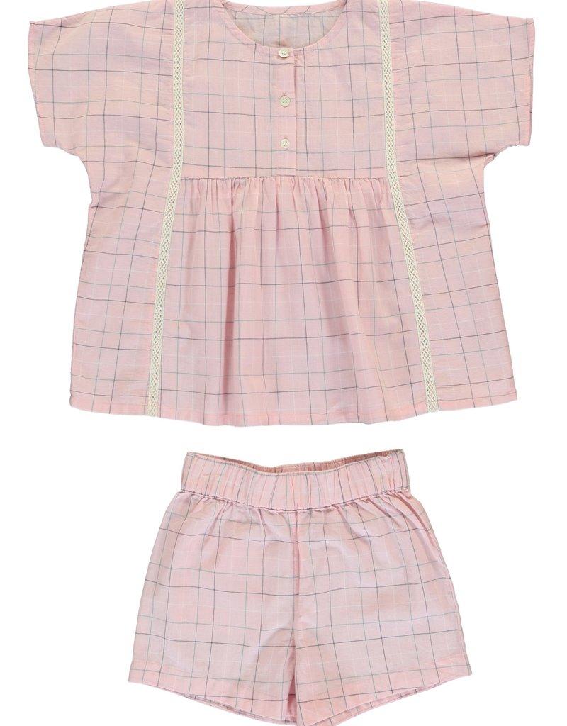 Dorélit Acamar and Mars woven checks pyjama