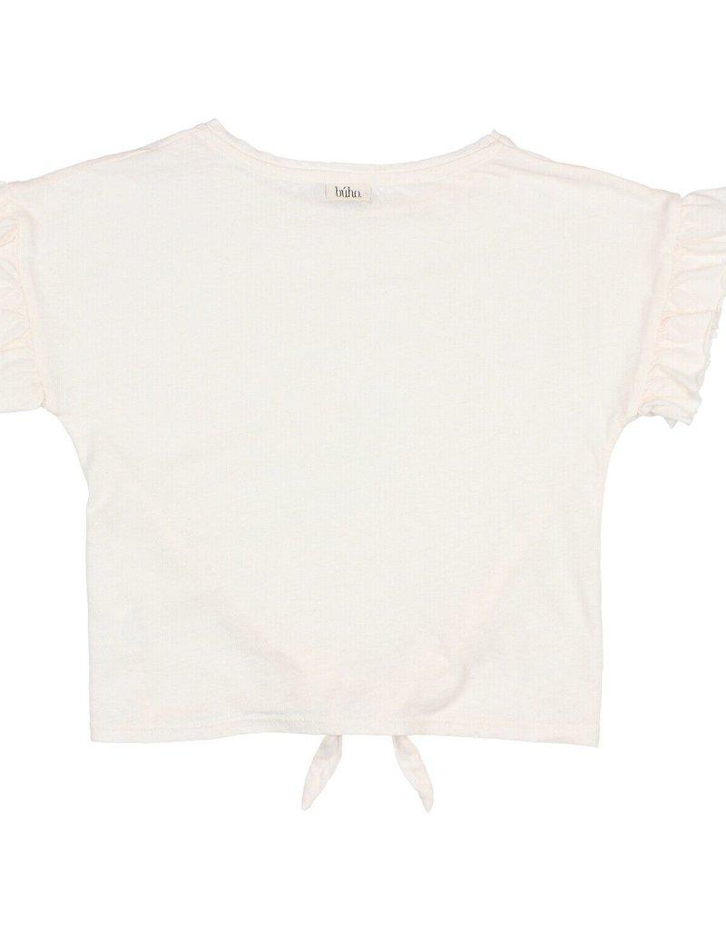 Búho. Janine tied t-shirt talc