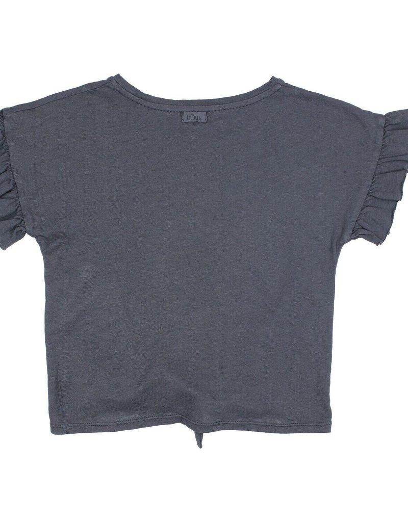 Búho. Janine tied t-shirt graphite