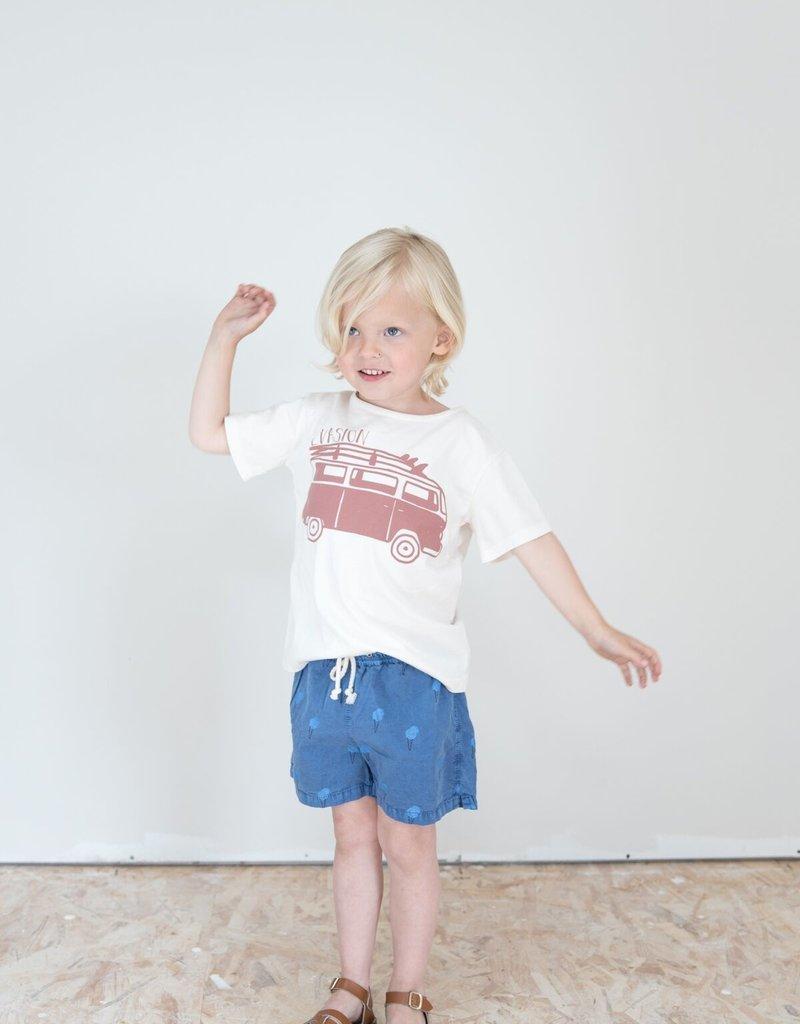 Búho. Leo evasion t-shirt misty blue