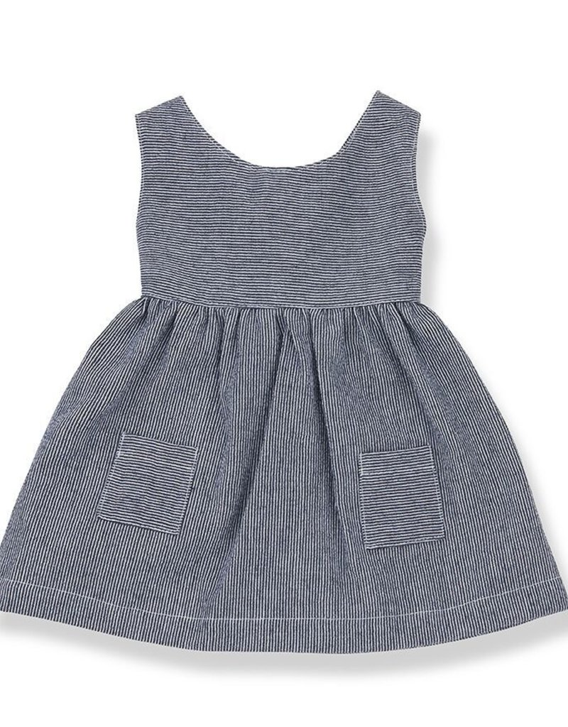 1+ in the family Pompeya dress blue notte