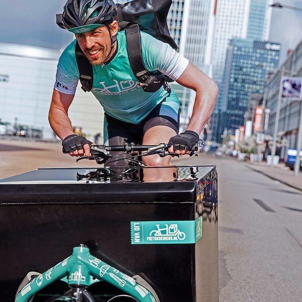 Bier per fietskoerier geleverd