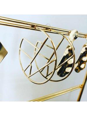 Golden Rings Oorbellen