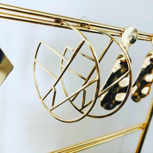 Juleeze Golden Rings Oorbellen