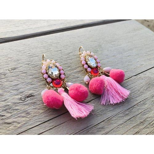 Candy Sweet Pom Princes Oorbellen