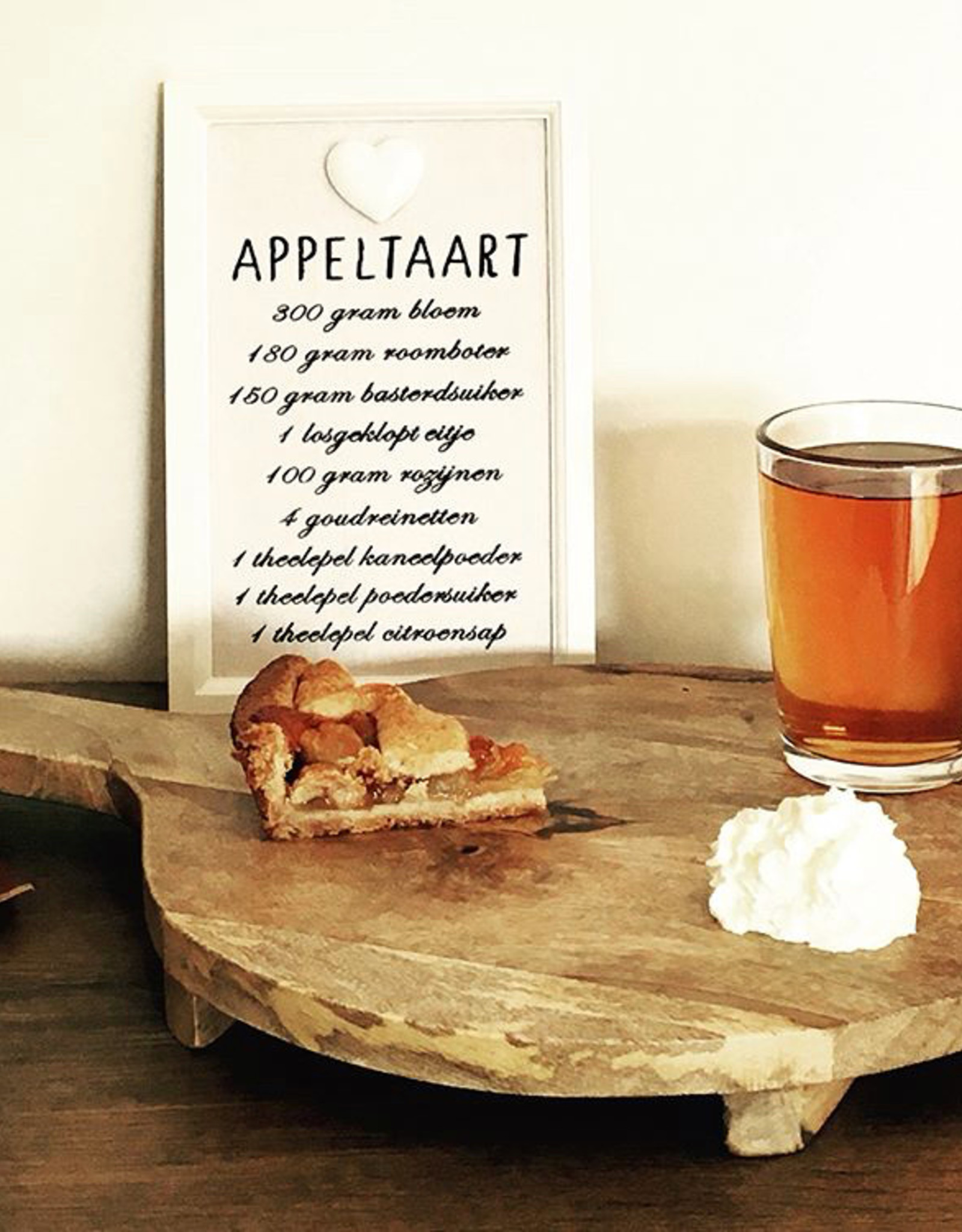 Bordje Appeltaartrecept