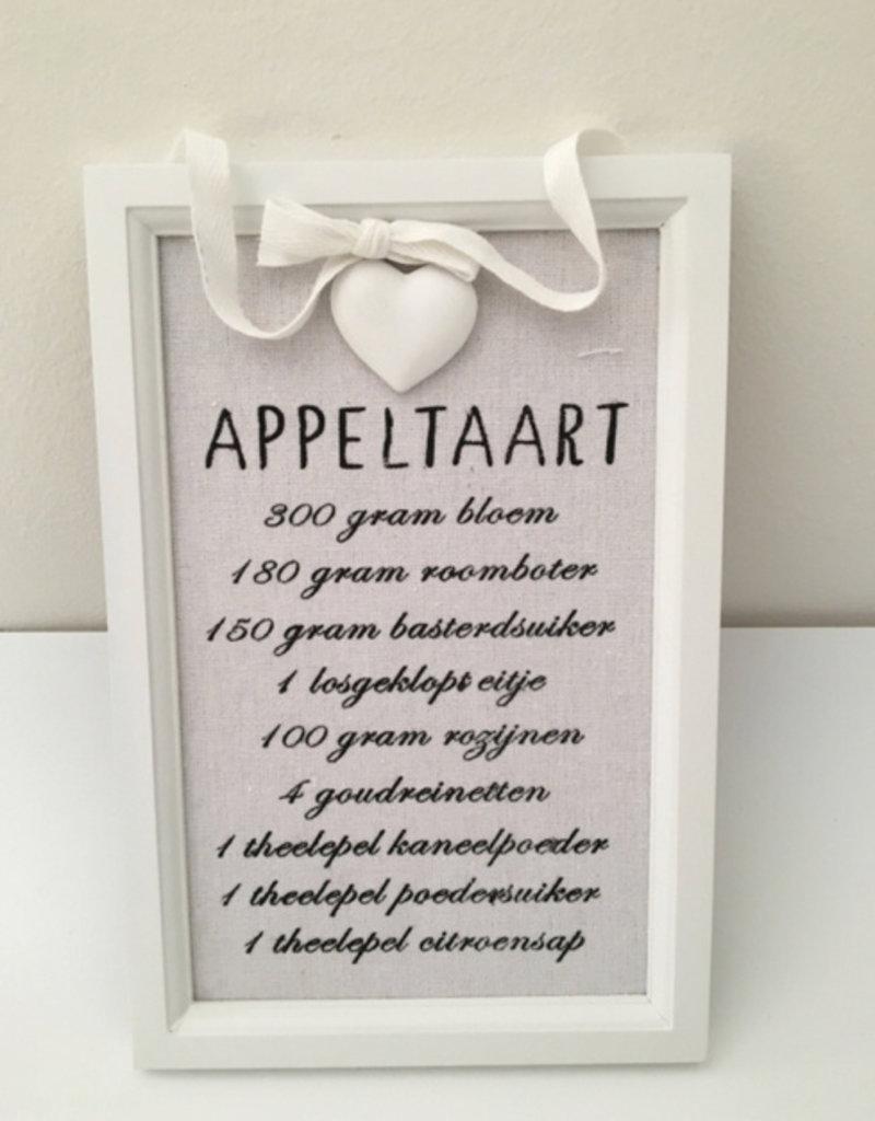 Bordje Appeltaartrecept
