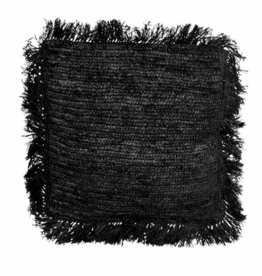 Raffia Zwart Vierkant