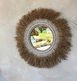 Bazar Bizar The Raffia Ginger Mirror