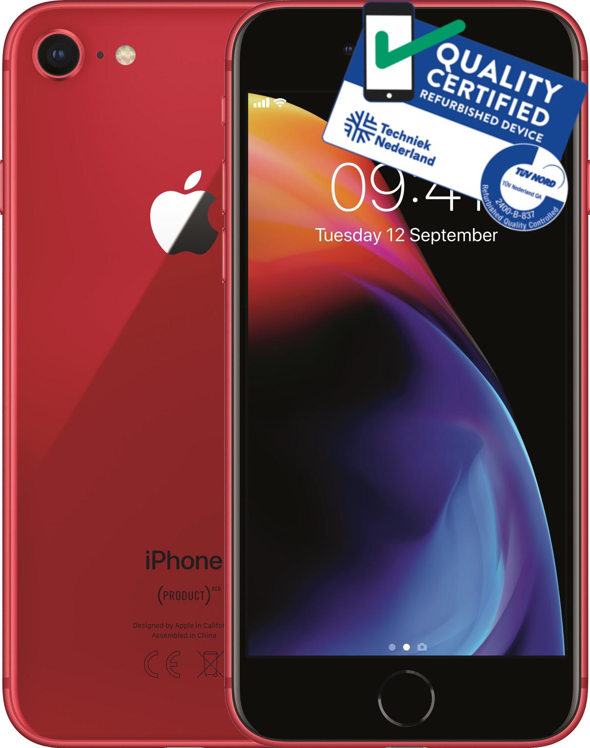 iPhone 8   256GB   Rood   Premium refurbished (Nieuwstaat) Tweedehands