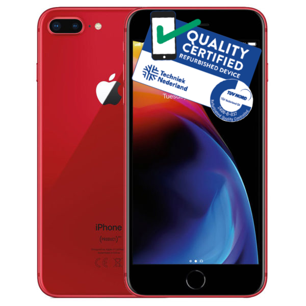 iPhone 8 Plus | 64GB | Rood | Premium refurbished