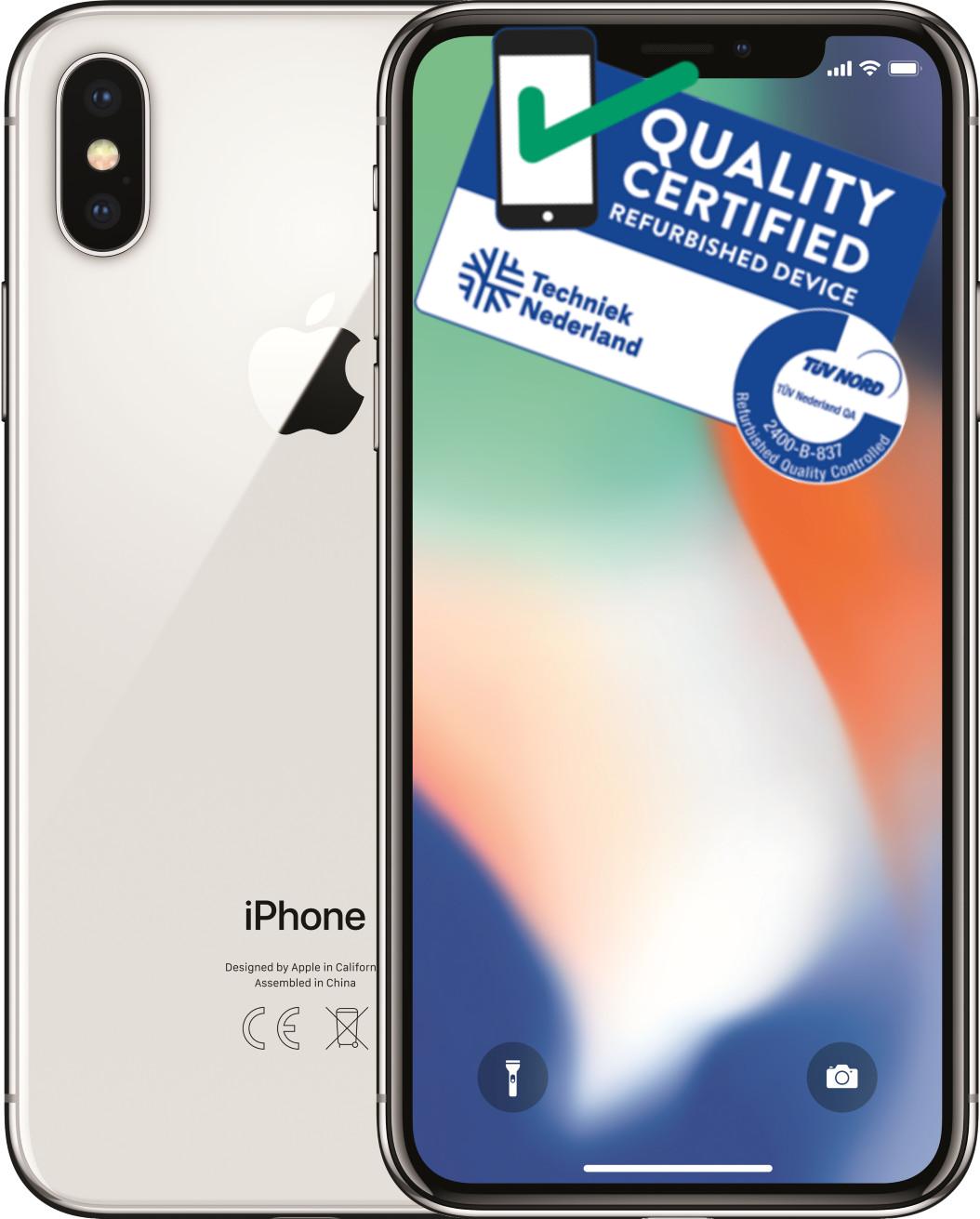 iPhone X | 256GB | Zilver | Zo goed als nieuw