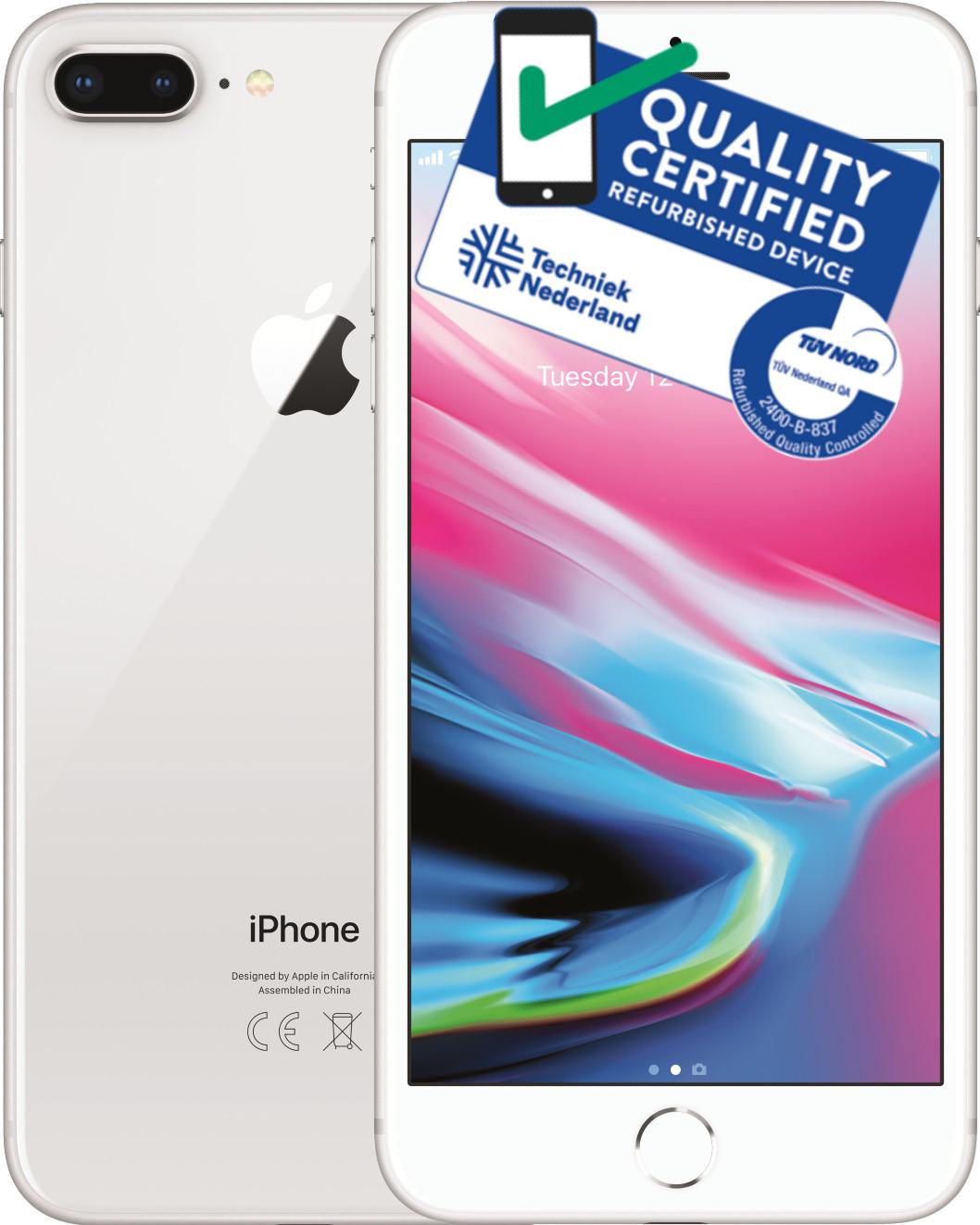 iPhone 8 Plus   256GB   Zilver   Premium refurbished Tweedehands