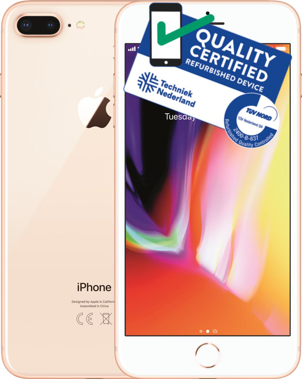 iPhone 8 Plus   256GB   Goud   Premium refurbished Tweedehands