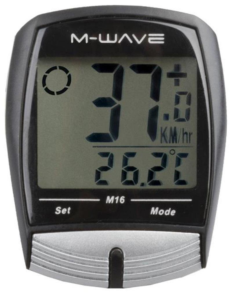 M-WAVE M  Fietscomputer 16 Functies