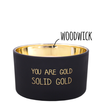 My Flame Lifestyle Bio sojakaars met geur - YOU ARE GOLD - Sandalwood Spice