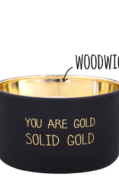 Bio sojakaars met geur - YOU ARE GOLD - Sandalwood Spice