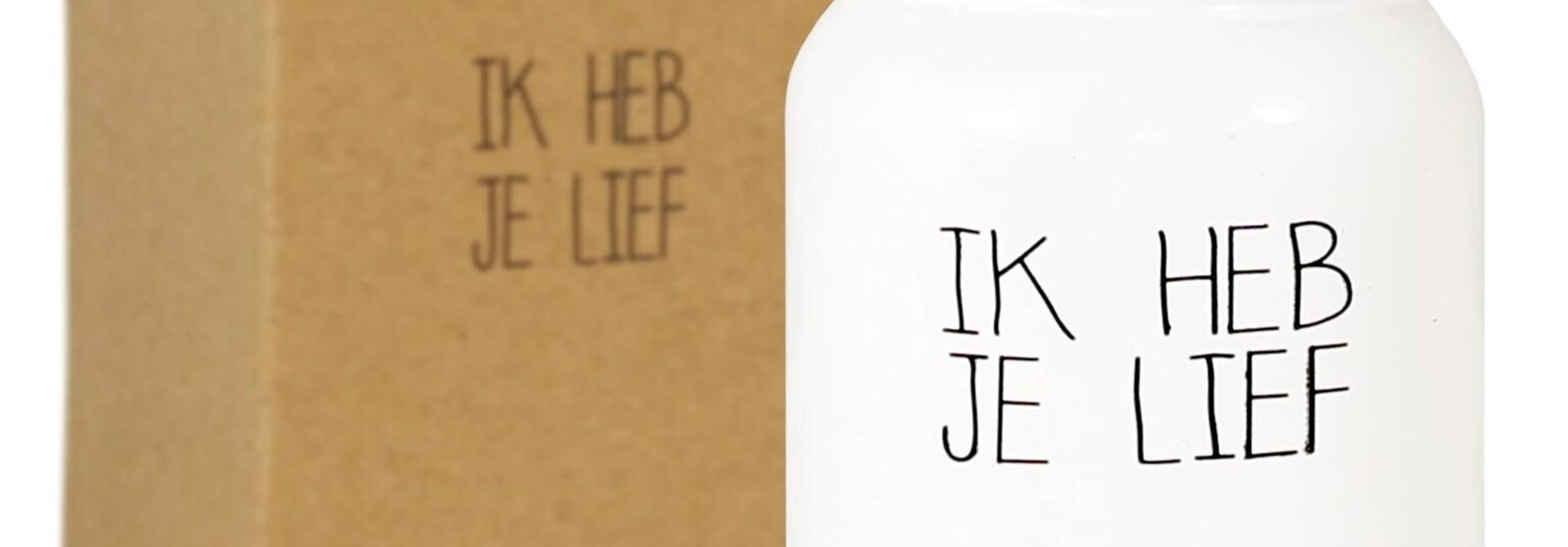 Bio Sojakaars - IK HEB JE LIEF - Geur Fresh Cotton