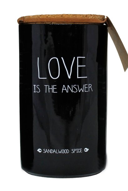 Bio Sojakaars - LOVE IS THE ANSWER - Geur Warm Cashmere