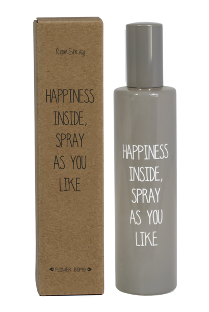 Roomspray - HAPPINESS  - Geur Flower Bomb