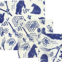 Bee's Wrap BIJENWASDOEK - 3 Pack Bee's & Bears