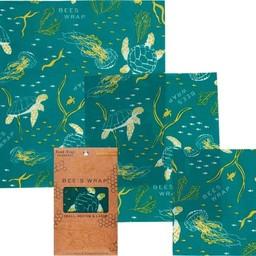 Bee's Wrap BIJENWASDOEK - 3 Pack Ocean Print
