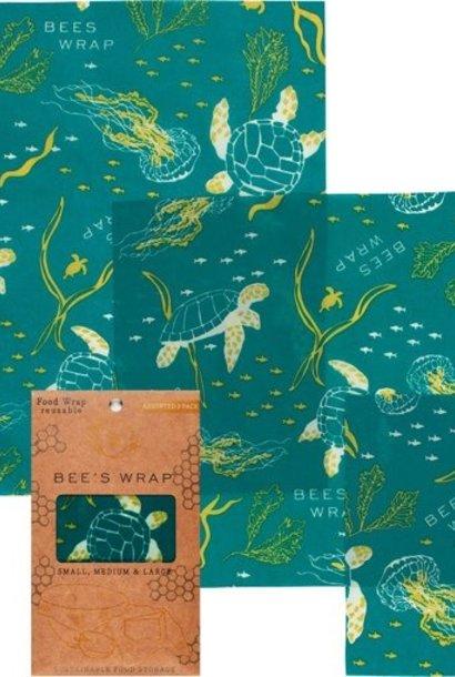BIJENWASDOEK - 3 Pack Ocean Print