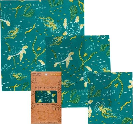 BIJENWASDOEK - 3 Pack Ocean Print-1