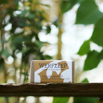 Werfzeep Lichaam / Handzeep  Chocoladeswirl - DROGE HUID