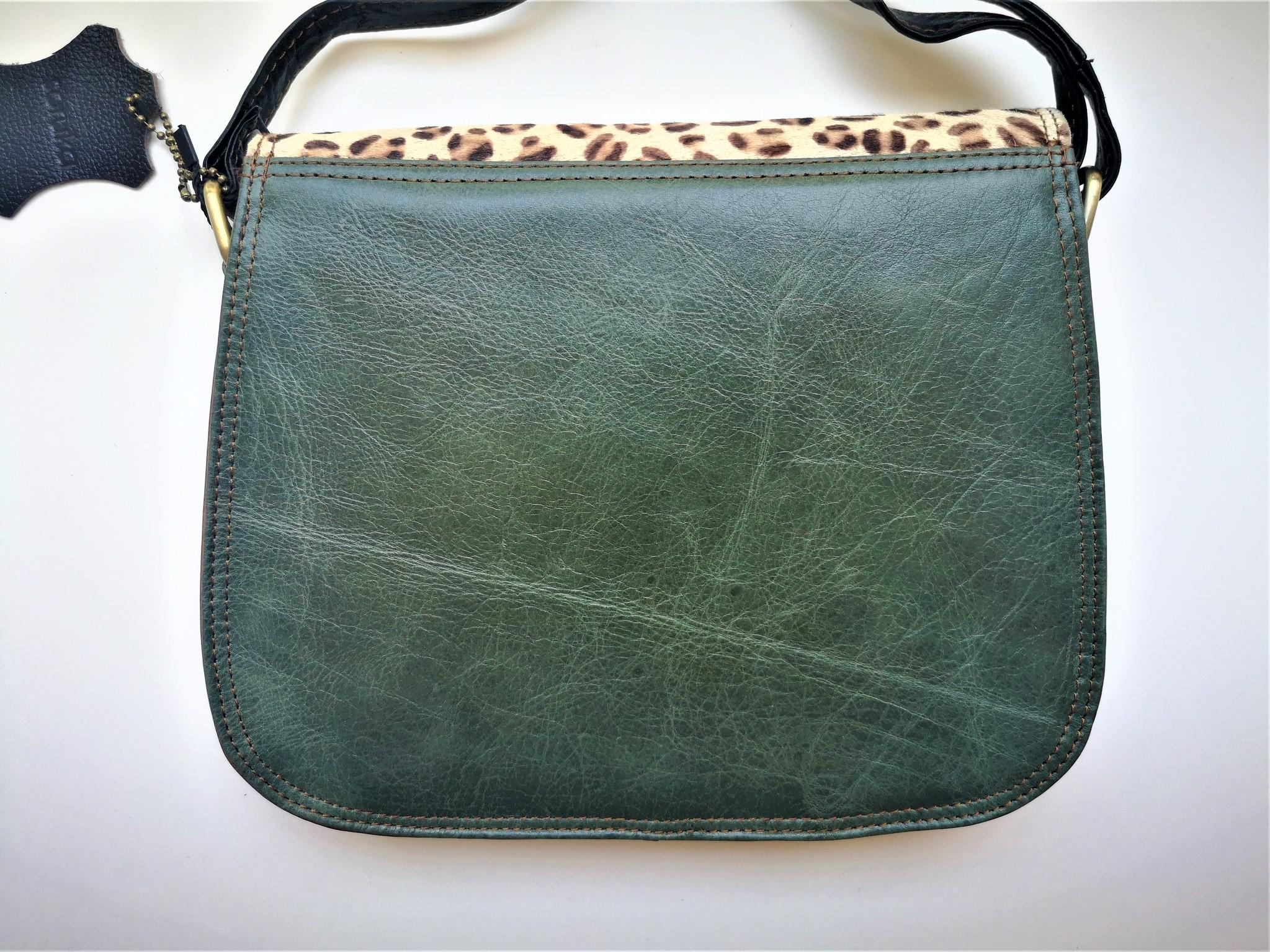Leather Bag Round Dark Blue-3