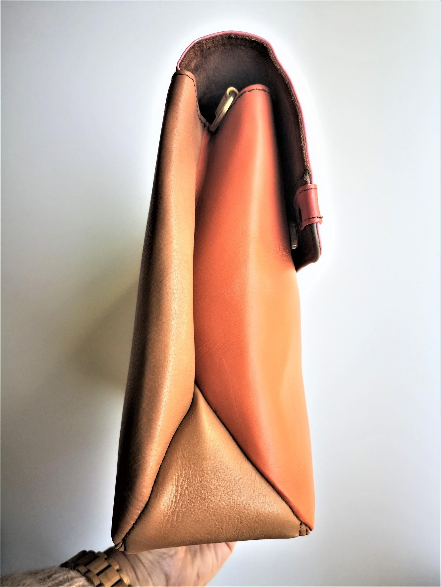 Gerecycleerde Handtas - Orleans Leather Bag Roos/Oranje-3