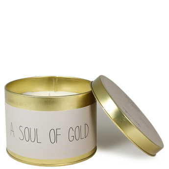 myflamelifestyle Geurkaars A SOUL OF GOLD