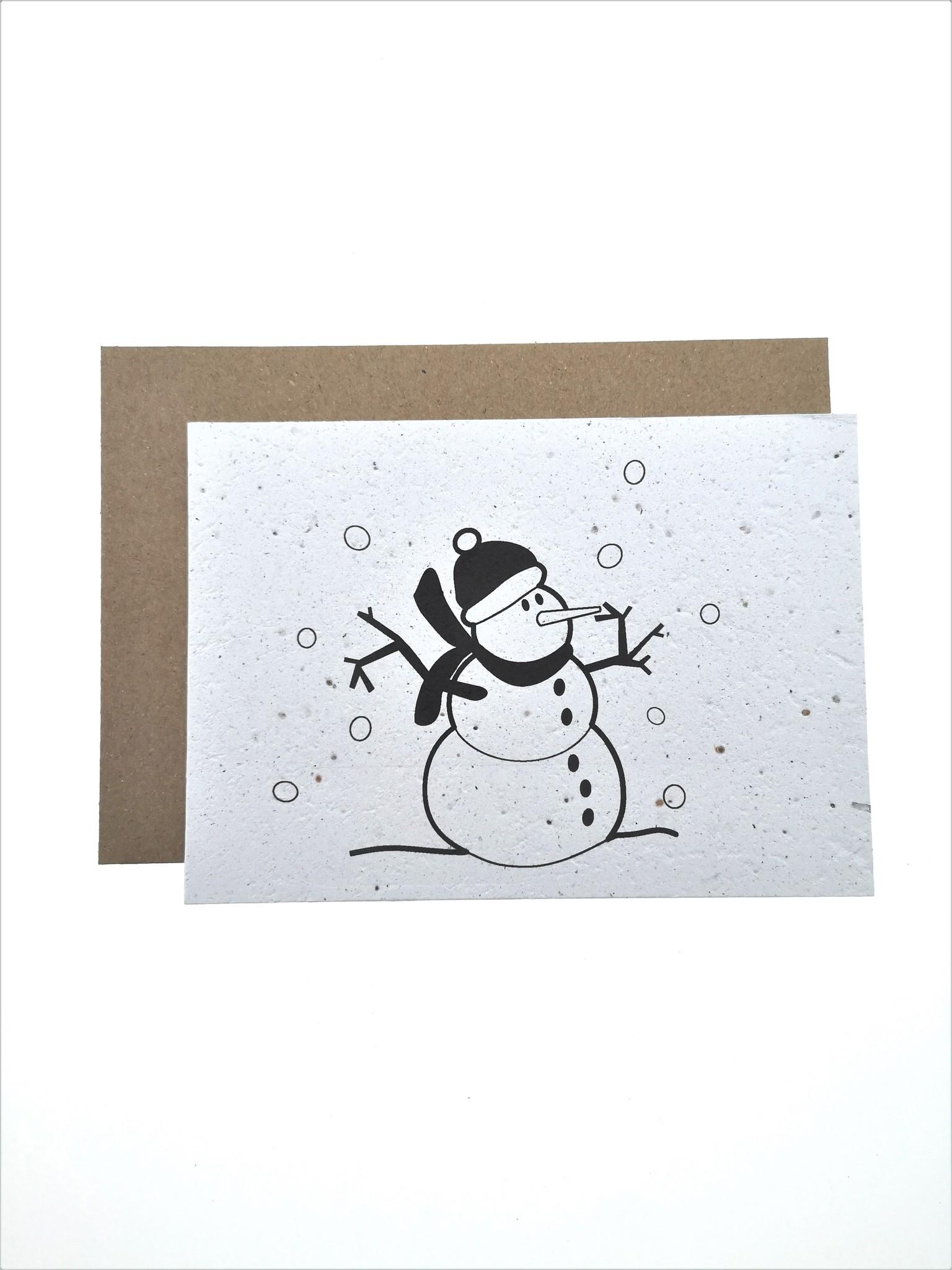 Plantbare kaart - Sneeuwman-2