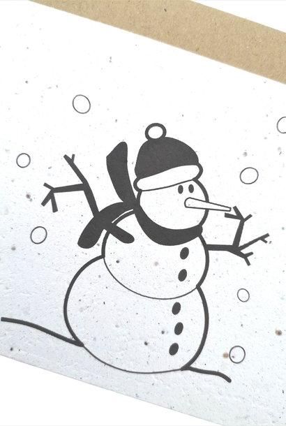 Plantbare kaart - Sneeuwman