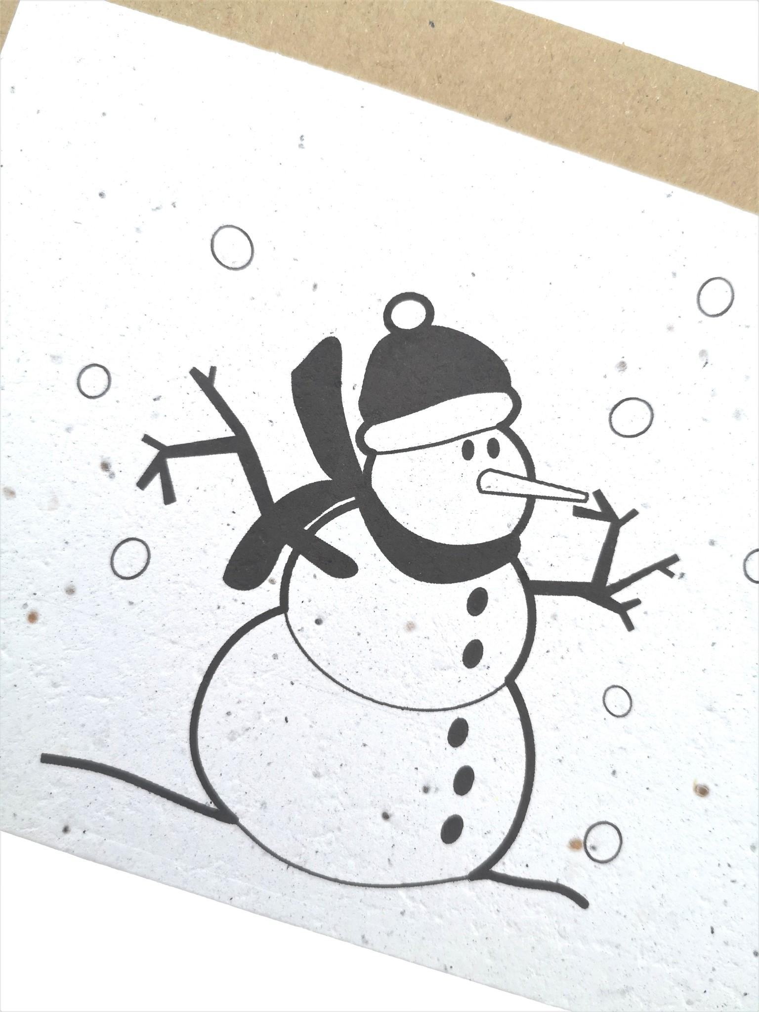Plantbare kaart - Sneeuwman-1