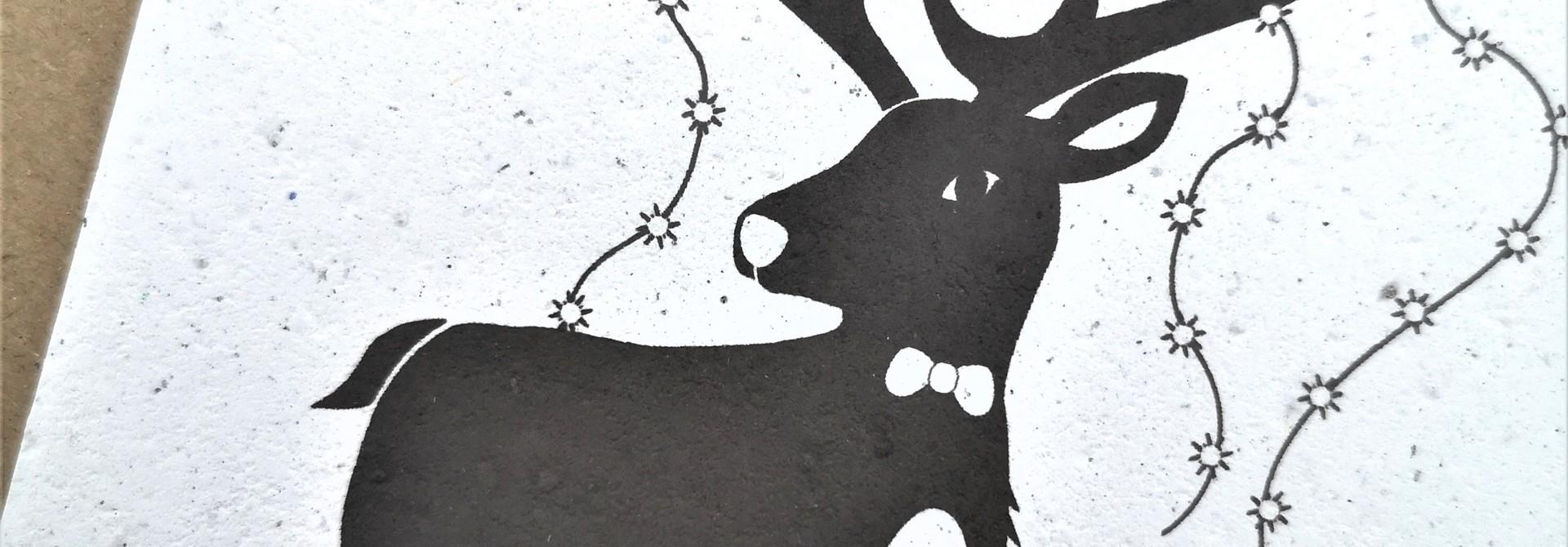 Plantbare kaart -Happy New Year - Sweeet Deer